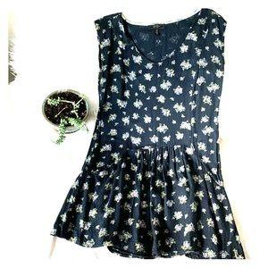 Jessica Simpson Floral Drop Waist Babydoll Dress